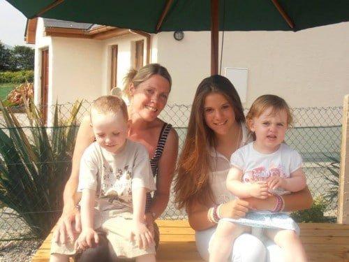 Mother teacher and children